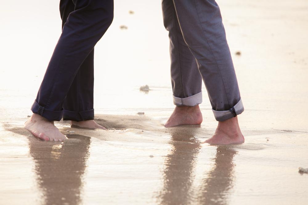 Lisa25 Wedding Photography feet in wet sand