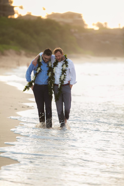 Lisa25 Wedding Photography walking through shallow water