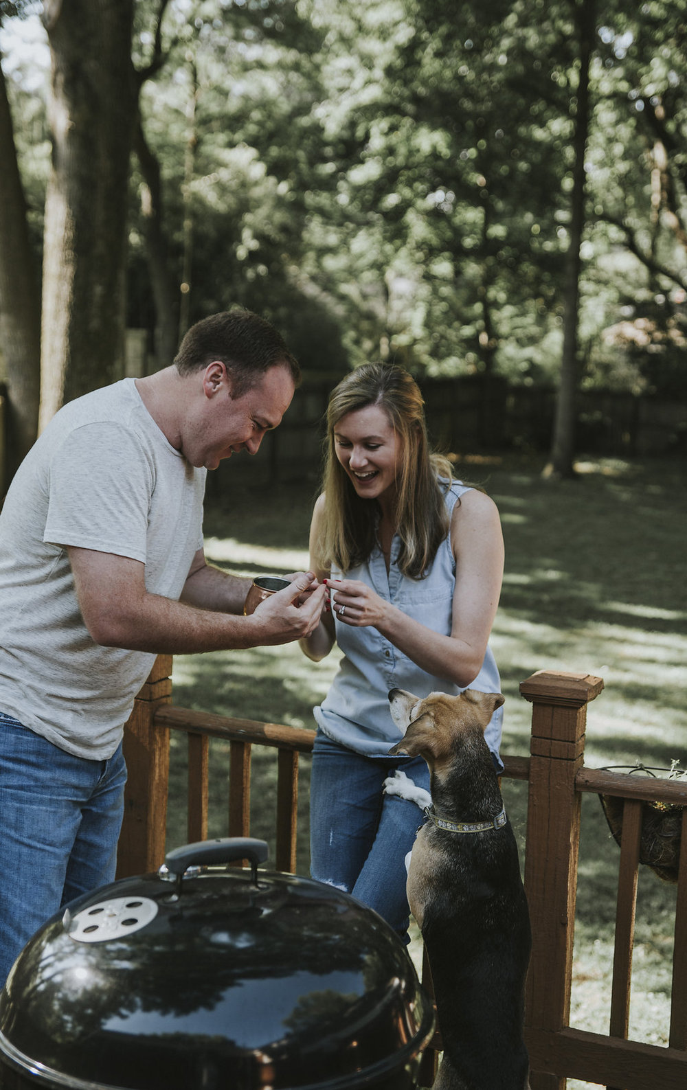 Kaitlyn Stoddard Wedding Photography Tennessee couple and dog on deck