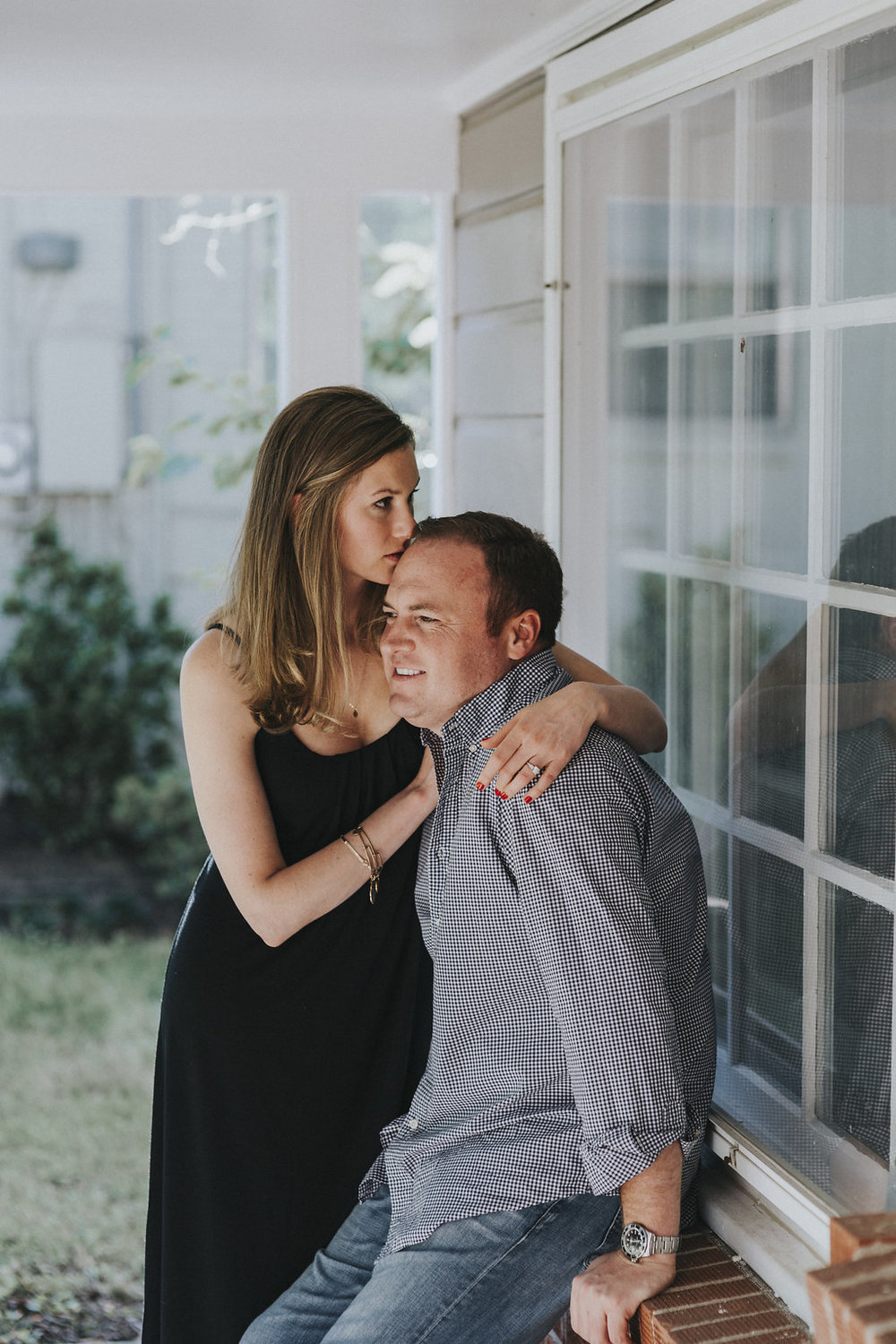 Kaitlyn Stoddard Wedding Photography Tennessee kiss on fiancé's forehead