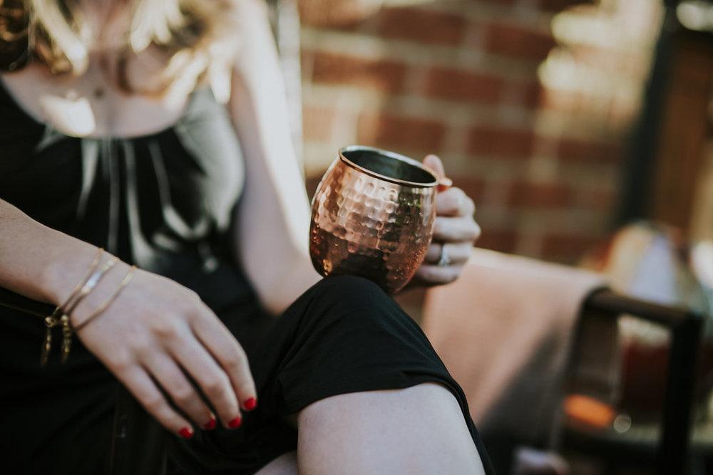 Kaitlyn Stoddard Wedding Photography Tennessee holding mug