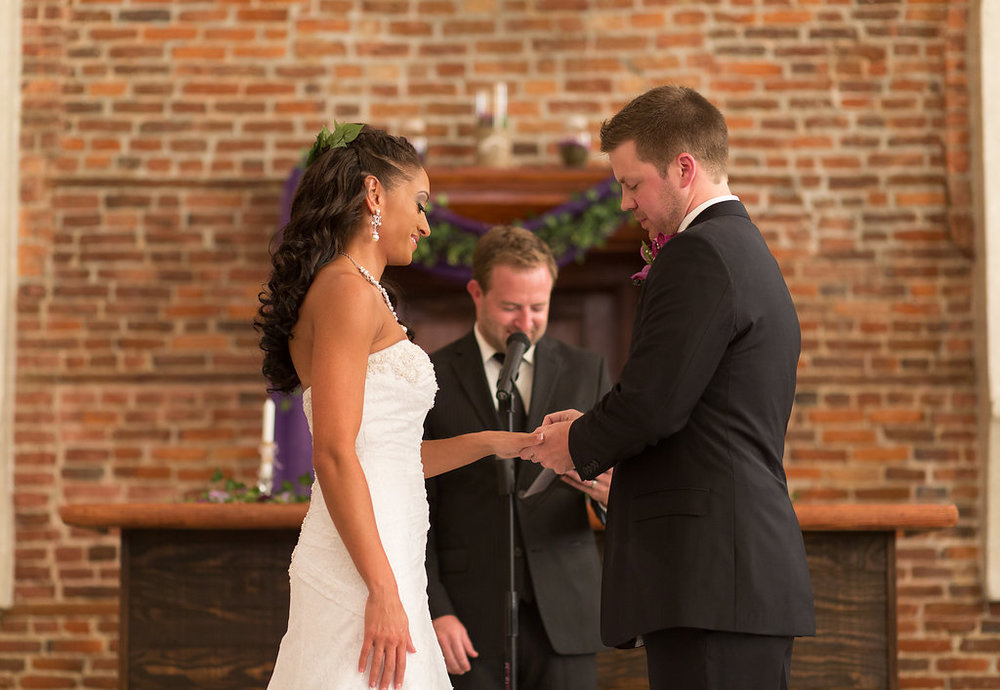 Megan Dickerson Wedding Photography North Carolina exchanging rings