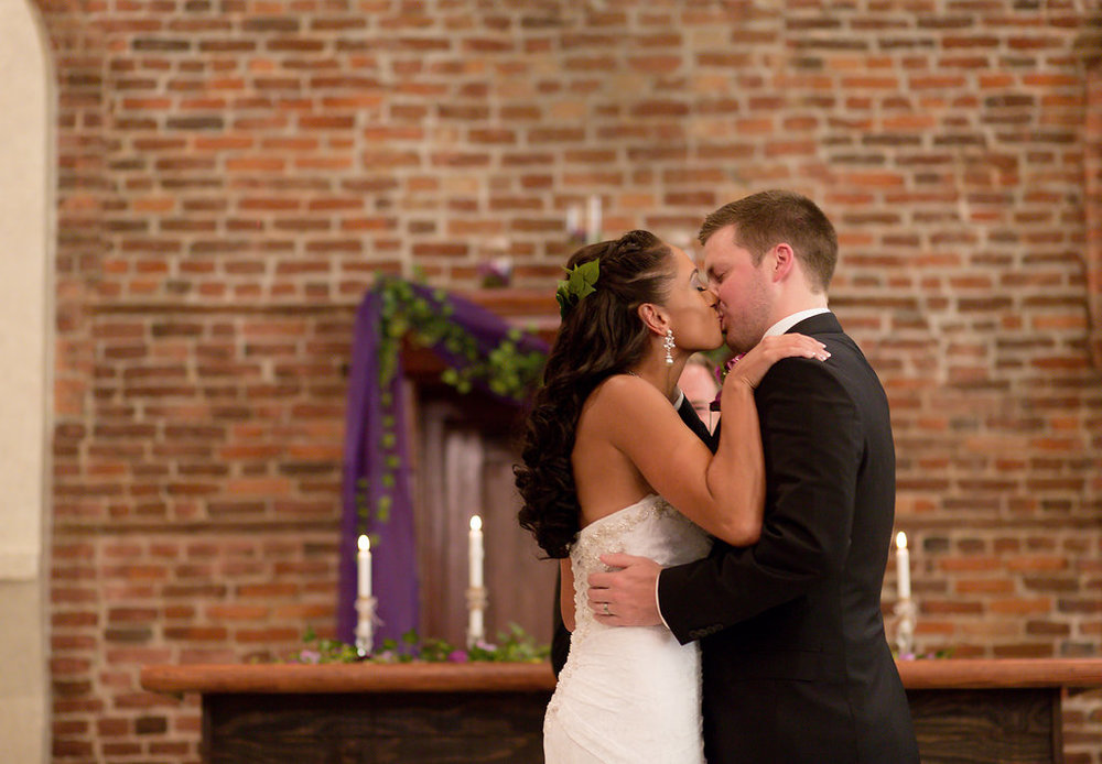 Megan Dickerson Wedding Photography North Carolina wedding kiss