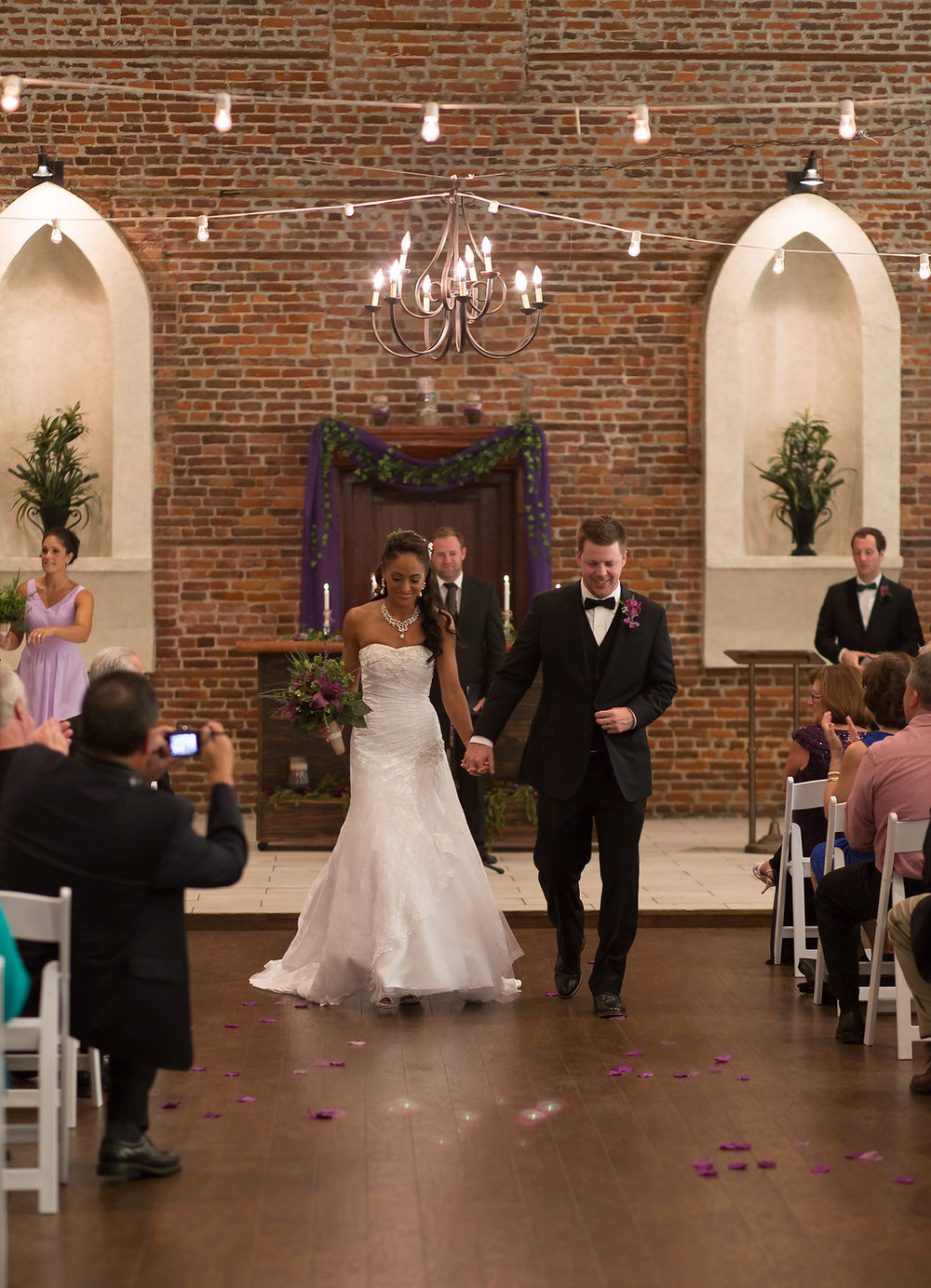 Megan Dickerson Wedding Photography North Carolina proceeding down aisle