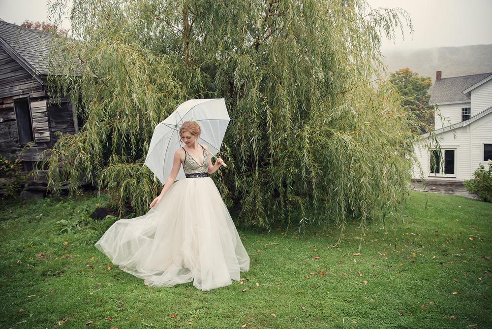 Ella Sophie Wedding Photography bride with umbrella