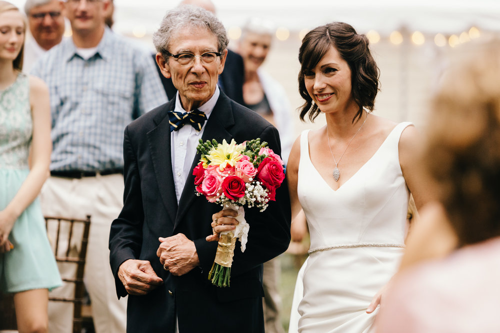 Erin Morrison Photography Tennessee bride and her father proceeding down the aisle