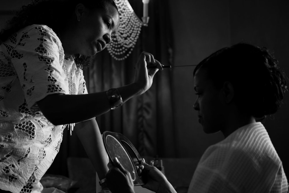 The Madious Wedding Photography DC bride getting ready