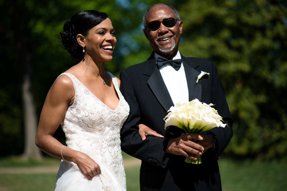 The Madious Wedding Photography DC father escorting bride