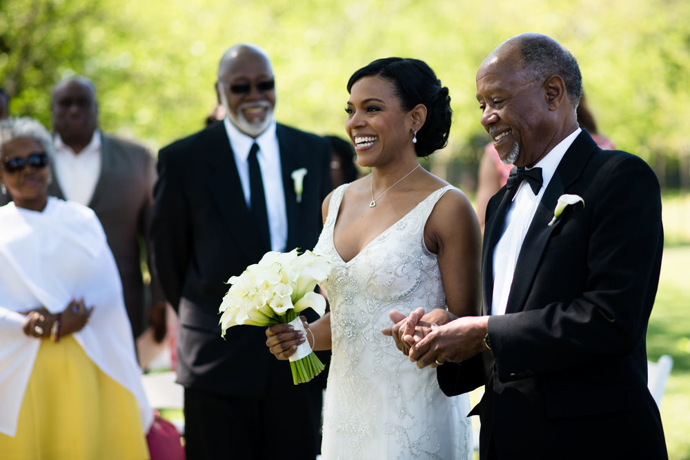 The Madious Wedding Photography DC bride and father proceeding down aisle