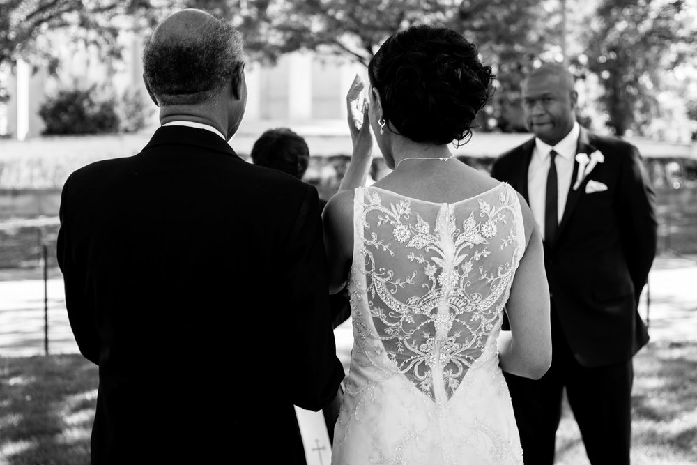 The Madious Wedding Photography DC bride, father, and groom