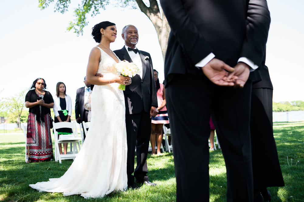 The Madious Wedding Photography DC couple, father, and pastor