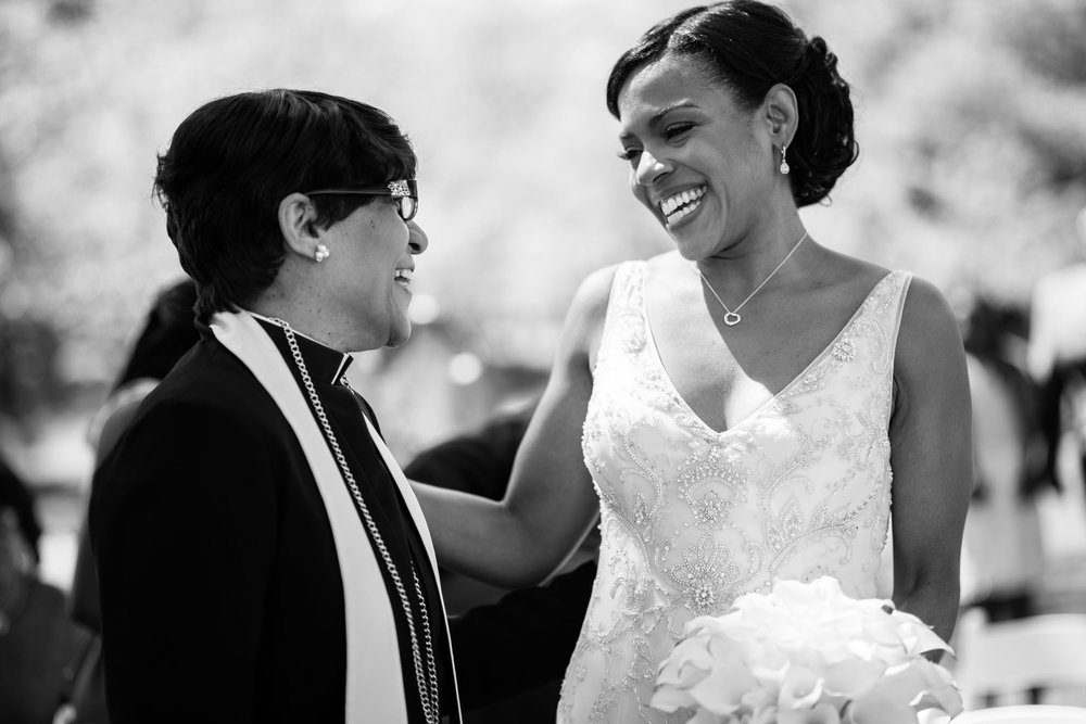 The Madious Wedding Photography DC bride and pastor smiling