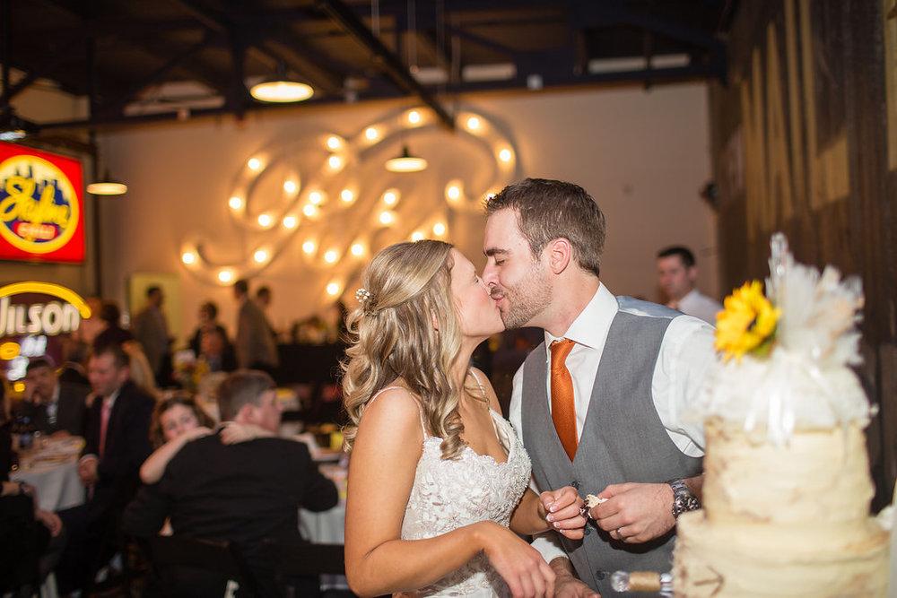 Corey and Alex Larrison Wedding Photography Cincinnati kiss