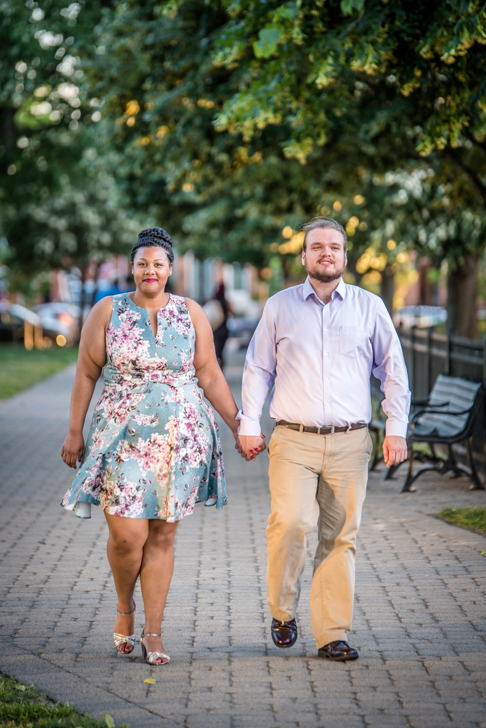 Ronnie Bliss Wedding Photography Baltimore Maryland strolling down park path