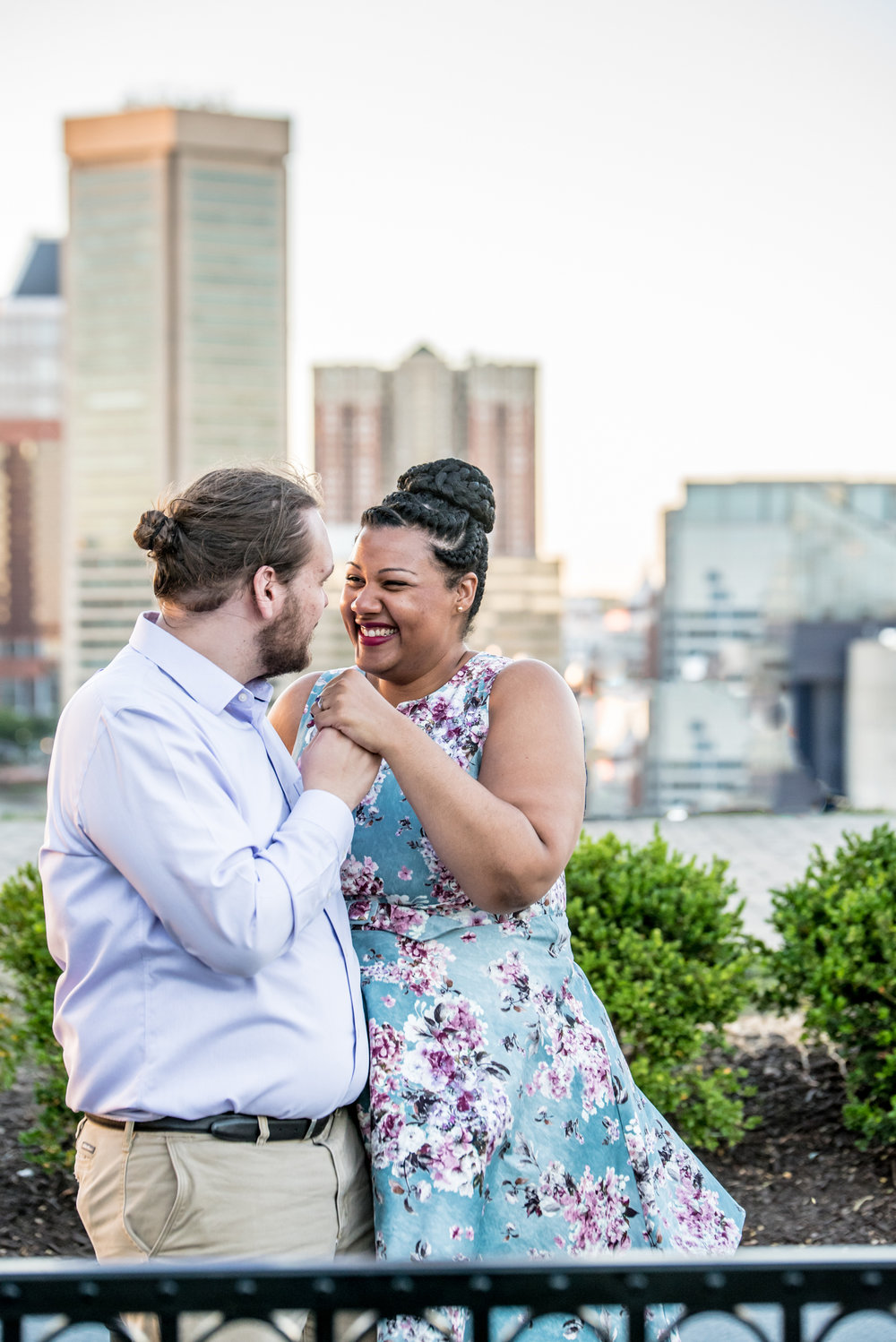 Ronnie Bliss Wedding Photography Baltimore Maryland laughing with clasped hands