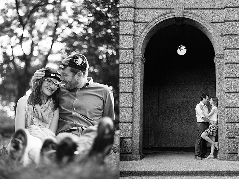 Erika Nizborski Wedding Photography DC engagement photos for two couples