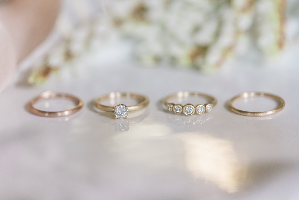 B. Jones Photography Seattle four wedding rings side by side