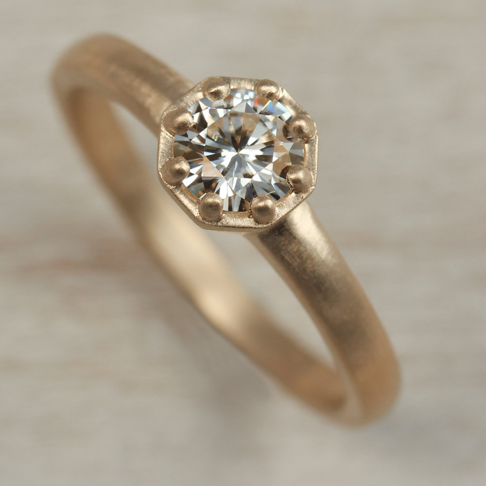 5mm Octagon Engagement Ring