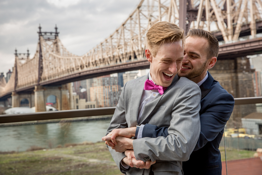 Justin McCallum Wedding Photography New York laughing and holding hands
