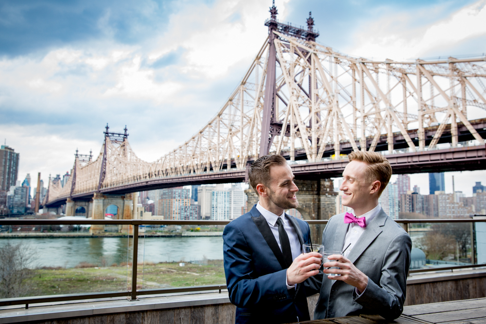 Justin McCallum Wedding Photography New York couple having drinks