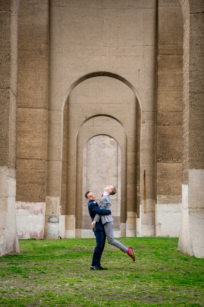 Justin McCallum Wedding Photography New York man lifts fiancé