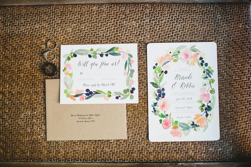 Izzy Hudgins Wedding Photography wedding invitations