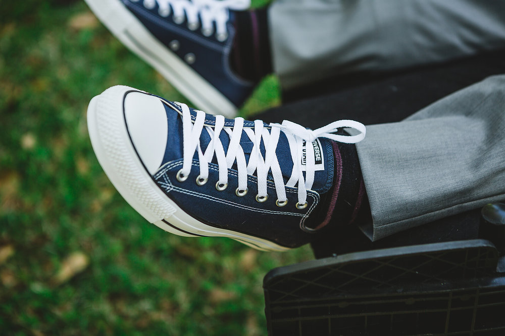 Izzy Hudgins Wedding Photography groom's Converse sneakers