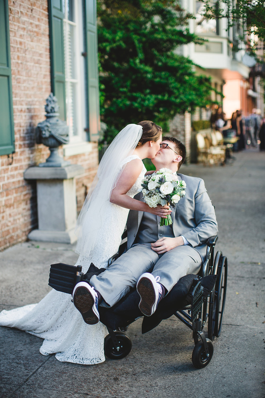 Izzy Hudgins Wedding Photography kiss
