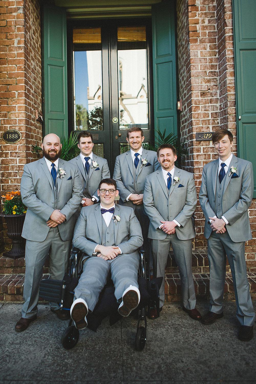 Izzy Hudgins Wedding Photography groom and groomsmen