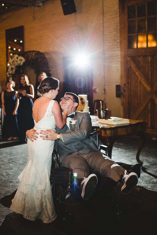 Izzy Hudgins Wedding Photography bride and groom on dance floor