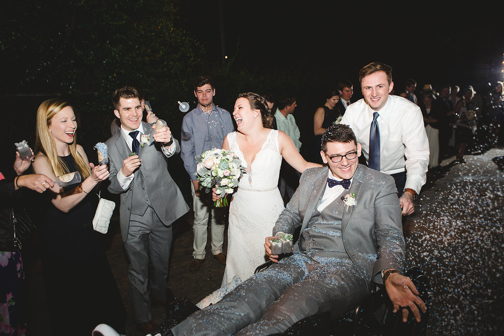 Izzy Hudgins Wedding Photography couple covered in confetti