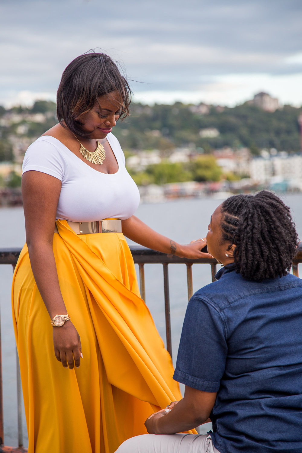 Taymah and Brittany surprise proposal - Photo by DBK Photography