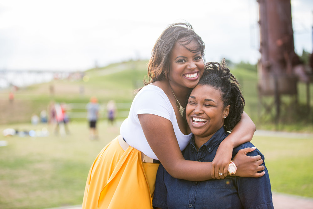 Taymah and Brittany surprise proposal and engagement in Gas Works Park, Seattle - Photo by DBK Photography