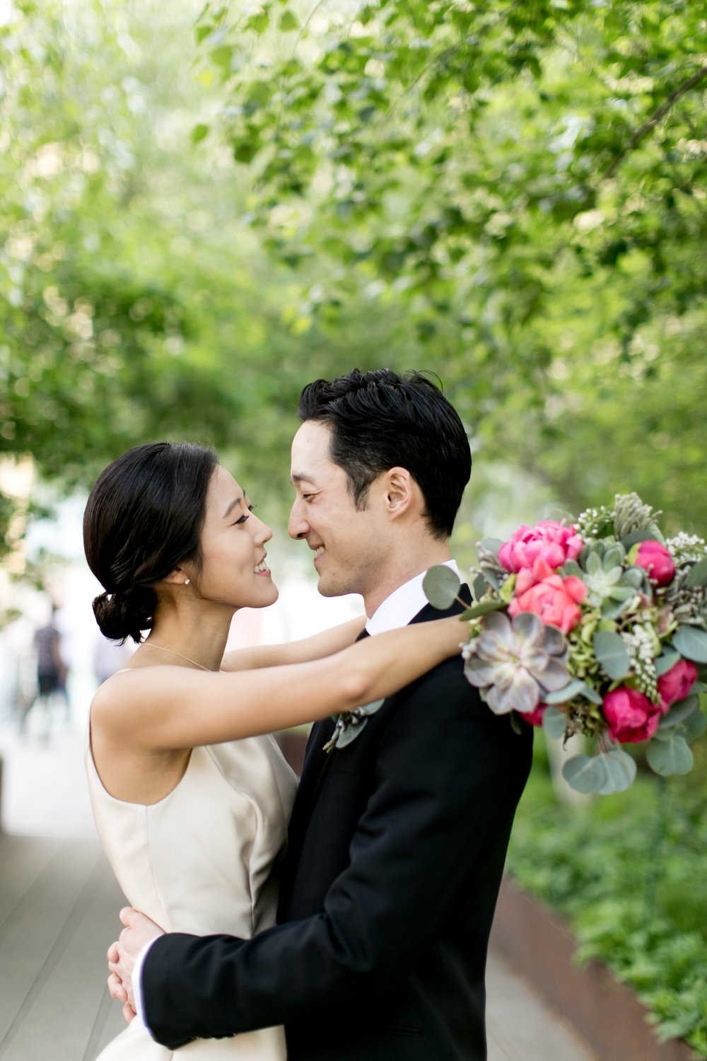 Leonard + Michelle Wedding embrace by Brookelyn Photography