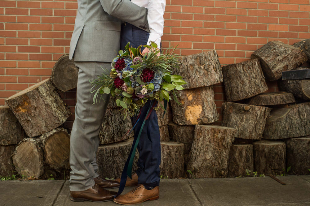 Buffy Goodman Wedding Photography grooms with flowers