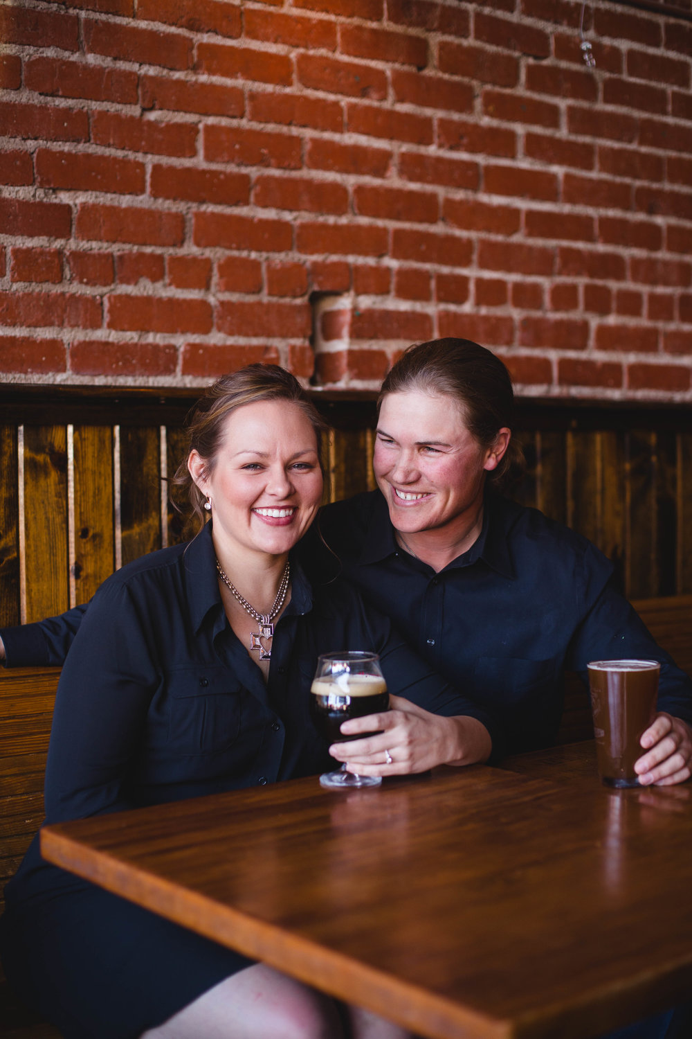 Microbrewery LGBTQ engagement in Wichita Kansas by CJF Photography