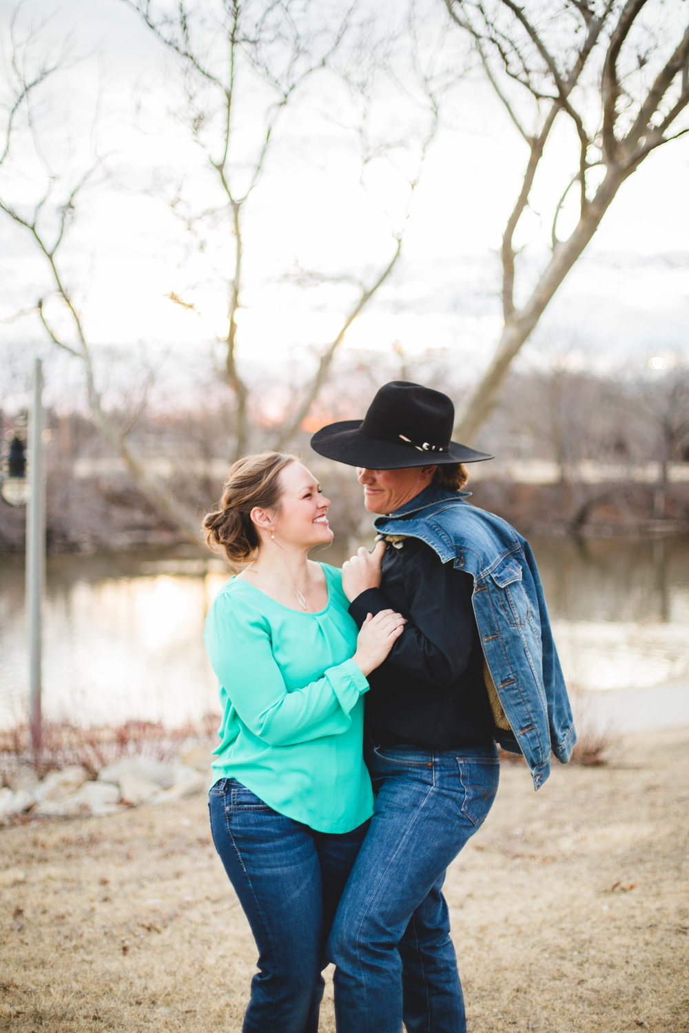 Microbrewery LGBTQ wedding engagement in Wichita Kansas by CJF Photography