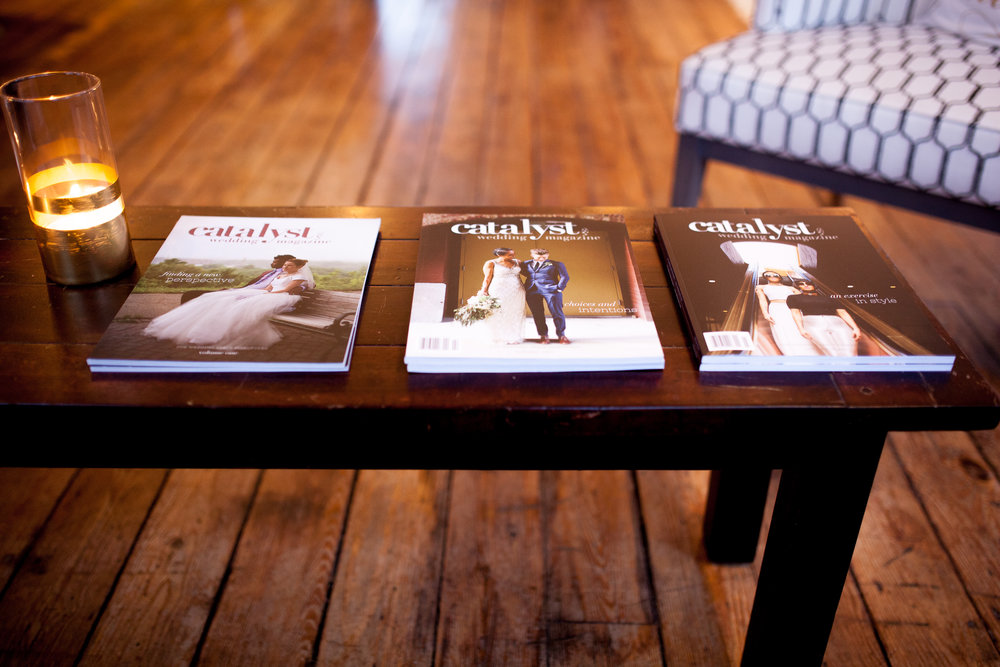 All three volumes of Catalyst Wedding Magazine