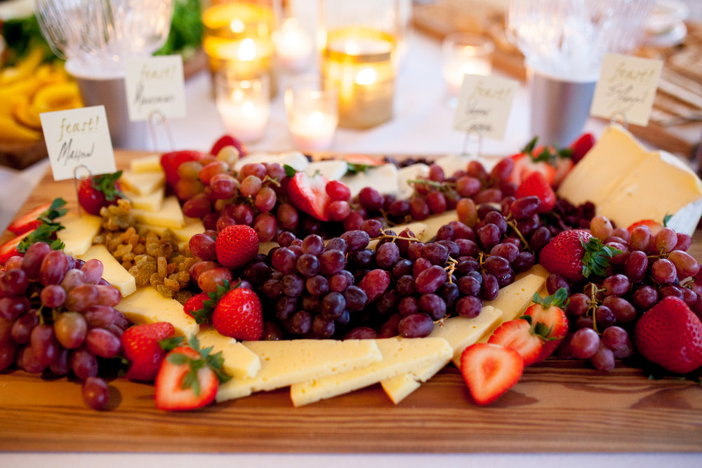 Fruit and cheese platter by Feast! Virginia