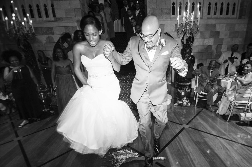 Dover Hall Richmond Virginia Black Renaissance Wedding IYQ Photography Jumping the Broom
