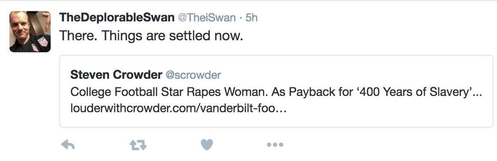 Kevin swan perpetuating rape culture