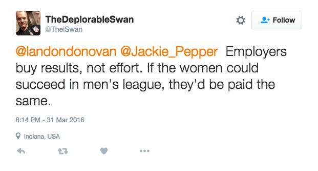 sexist tweet even though he works in a woman-dominated industry