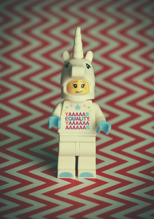 "Debbie Hickey Photography Ireland Lego figure wearing shirt that reads ""YASSSSSSSS EQUALITY YASSSSSSS"""