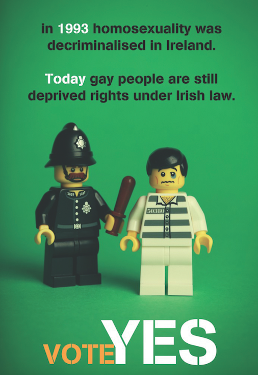 In 1993 homosexuality was decriminalised in Ireland. Today gay people are still deprived rights under Irish Law.
