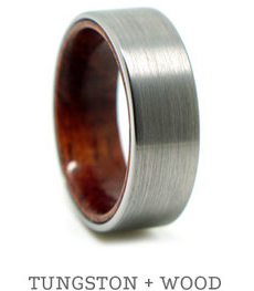 Tungston + Wood Ring