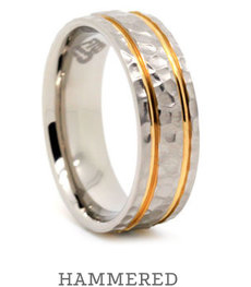 Hammered Metal Rings