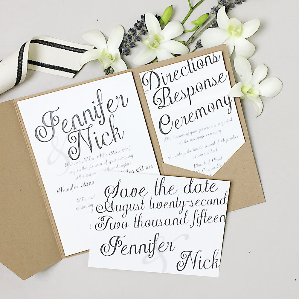 Basic Invite Custom Wedding Invitations and Save the Dates