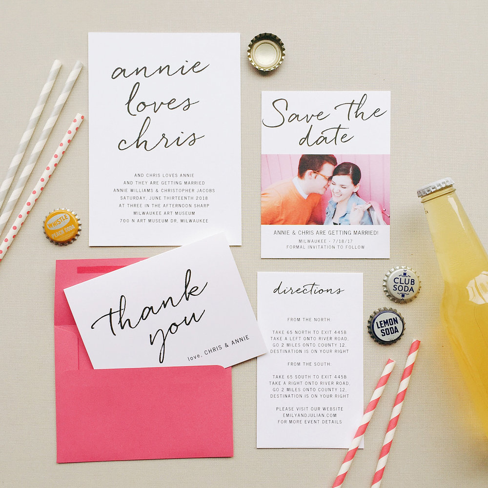 Basic Invite Paper Goods Custom Invitations and Save the Dates