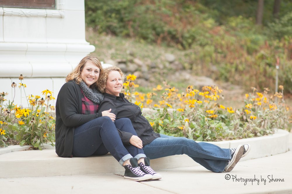 LGBTQ wedding engagement in Peoria, Illinois with photos by Shanna Aitken