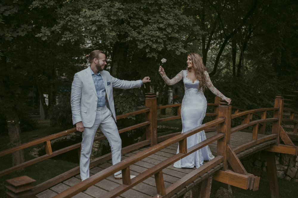 Serbian Jazz Musician Orthodox Castle Wedding by Aleksa and Mina